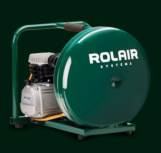 ROLAIR 2HP 3400RPM 1CYL 4.1CFM@90PSI 4.5GAL AIR COMPRESSOR