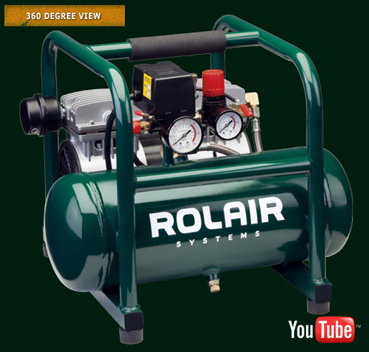 ROLAIR 1HP 1725RPM 2CYL 2.35CFM@90PSI 2.5GAL AIR COMPRESSOR