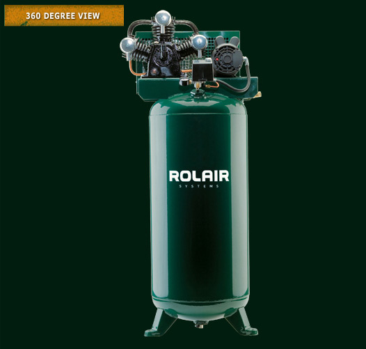 ROLAIR 5HP 1PH 3450RPM 16.0CFM@100PSI 60GAL SINGLE STAGE AIR COMPRESSOR