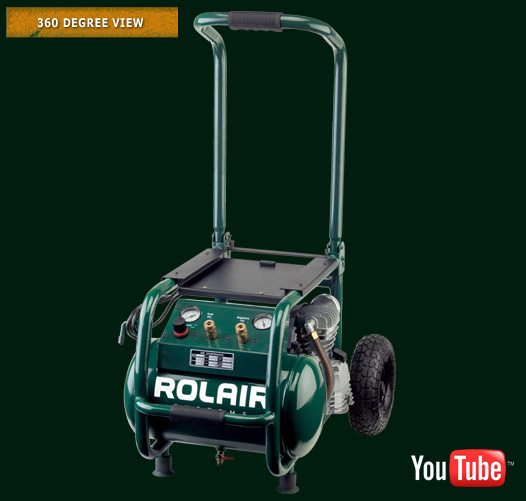 ROLAIR 2.5HP 3400RPM 1CYL 6.5CFM@90PSI 5.3GAL AIR COMPRESSOR