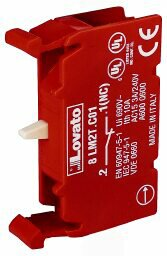 8LM2TC01 Lovato Add-on Auxiliary Contact w/ 1 Normally-Close Contact