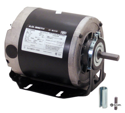 GF2034 AO Smith Split Phase 1/3HP 1725RPM 115V Belt Drive & Blower Motor